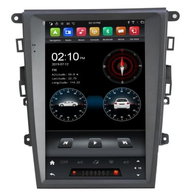 Belsee for Ford Mondeo Fusion MK5 2013-2017 Best Aftermarket Wireless Android 9 Auto Head Unit Apple CarPlay Tesla Style Vertical 12.1 inch IPS Touch Screen Radio Replacement Stereo Upgrade GPS Navigation System Audio Video Player Sat Nav PX6 Wifi Ram 4GB