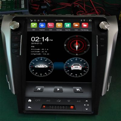 Belsee 12.1 inch Tesla Style Vertical Screen Android 9.0 Auto Head Unit Car Stereo Upgrade for Toyota Camry 2012 2013 2014 2015 Car Multimedia Player Radio Replacement PX6 Ram 4GB Apple CarPlay In Dash GPS Navigation Audio System 4G Wifi Bluetooth