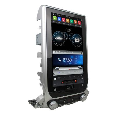 Belsee 13.3 Inch Tesla-style Vertical Screen Android 9.0 Pie Head Unit Car Radio Replacement Stereo Upgrade for Toyota Land Cruiser 200 LC200 2016 2017 2018 2019 2020 In Dash GPS Navigation Audio System Multimedia Player PX6 Ram 4GB Apple CarPlay Auto