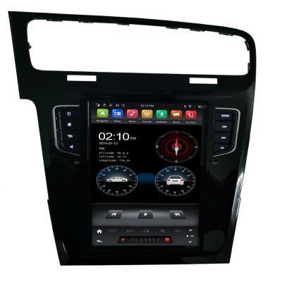 Belsee Best Aftermarket Tesla Style Vertical Screen Head Unit 10.4 inch Touch Screen Android 9 Auto Radio Replacement for Volkswagen VW Golf 7 MK7 2013-2018 Wireless Apple CarPlay In Dash GPS Navigation System Multimedia Stereo Upgrade Player Wifi PX6