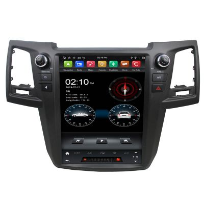 Belsee Aftermarket 12.1 inch Tesla Style Touch Screen Stereo Upgrade Android 9.0 Auto Head Unit Car Radio Replacement for Toyota Fortuner 2004-2015 GPS Navigation Multimedia Player System Audio Apple CarPlay PX6 Ram 4GB Rom 64GB Sat Nav