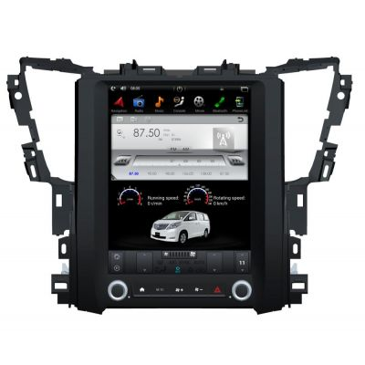Belsee Best Aftermarket 12.1 inch IPS Touch Screen Tesla Style Radio Replacement for Toyota Alphard AH30 2015-2020 Android 9.0 Auto Head Unit Stereo Upgrade Apple CarPlay Bluetooth Wifi DSP GPS Navigation Multimedia Player Sat Nav