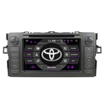 Belsee Toyota Auris 2007-2012 Best Aftermarket Stereo Upgrade Bluetooth Radio Replacement Android 10 Auto Head Unit Double 2 Din In Dash Car GPS Navigation Audio System 7 inch Touch Dual Screen DVD Player Multimedia Sat Nav Wireless Apple CarPlay Wifi