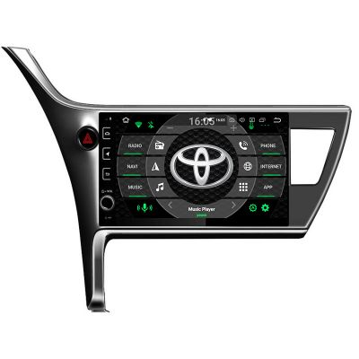 Belsee Best Aftermarket Toyota Corolla Innova Crysta 2016 2017 2018 2019 Android 9.0 Auto Head Unit Radio Replacement Car Stereo Upgrade 10.1 inch IPS Touch Screen GPS Navigation System Octa COre PX5 Ram 4GB Rom 64GB Apple CarPlay Android Auto Bluetooth