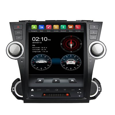 Belsee 12.1 inch Tesla Style Vertical Screen Android 9.0 Pie Head Unit Radio Replacement Stereo Upgrade for Toyota Highlander Kluger 2008-2014 In Dash GPS Navigation System PX6 Ram 4GB Rom 32GB Multimedia Player Apple CarPlay Android Auto