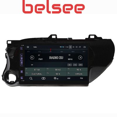 Belsee Aftermarket 10.1 Inch Touch Screen Wireless Apple CarPlay Android 10 Auto Radio Replacement Stereo Upgrade Car Head Unit for Toyota Hilux 2016 2017 2018 2019 2020 GPS Navigation Sound System Multimedia Player Audio Bluetooth Wifi PX6