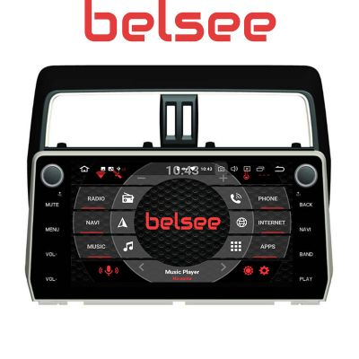 Belsee Best Aftermarket OEM Android 10.0 Q Head Unit Car Radio Replacement Stereo Upgrade GPS Navigation System Part for Toyota Land Cruiser Prado 2018 2019 202010.1 Inch IPS Touch Screen In Dash Receiver Multimedia Audio Video Player Apple CarPlay Wifi