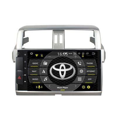 Belsee Best Aftermarket Radio Replacement for Toyota Land Cruiser Prado 150 2013-2017 Android 10 Auto Head Unit Car Stereo Upgrade GPS Navigation System Apple CarPlay Wifi Bluetooth PX6 Ram 4GB Rom 64GB Sat Nav Autoradio