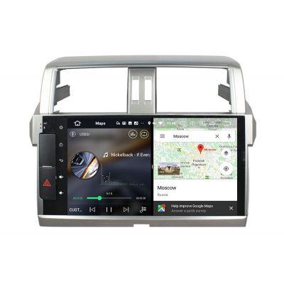 Belsee Best Aftermarket Radio Replacement for Toyota Land Cruiser Prado 150 2013-2017 Android 10 Auto Head Unit Car Stereo Upgrade GPS Navigation System Apple CarPlay Wifi Bluetooth PX6 Ram 4GB Rom 64GB Sat Nav Autoradio