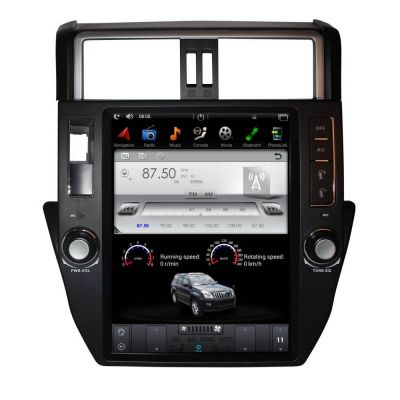 Belsee Aftermarket 12.1 inch Tesla Style IPS Touch Screen for Toyota Prado LC150 150 2010 2011 2012 2013 Android 7.1 / 9.0 PX6 Ram 4GB Auto Head Unit Car Radio Stereo In Dash Car GPS Navigation Audio System Bluetooth Receiver Carplay Wifi Part OBD2