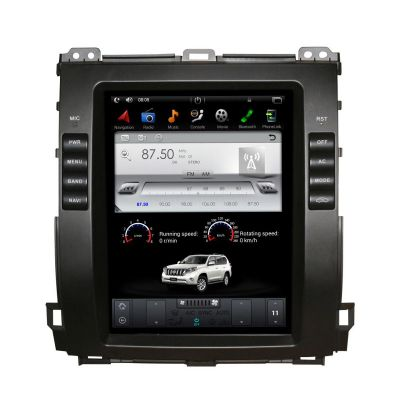 Belsee Aftermarket Tesla Style Screen PX6 Ram 4GB Android 9.0 Auto Head Unit Car Radio Stereo for Toyota Land Cruiser Prado 120 Lexus GX470 2002-2009 In Dash GPS Navigation System Multimedia Player Apple CarPlay Android Auto Bluetooth Wifi