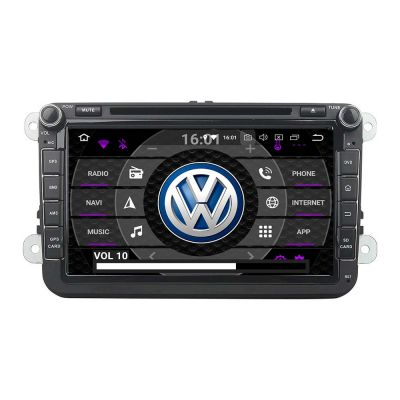 Belsee Best Aftermarket Android 9.0 Pie Auto Head Unit Autoradio 2 Din Stereo Upgrade Parts for VW Volkswagen Polo Golf Jetta Passat CC Tiguan EOS Caddy Amarok Skoda Seat Leon In Dash GPS Navigation Multimedia System Audio Player Apple Carplay Octa Core