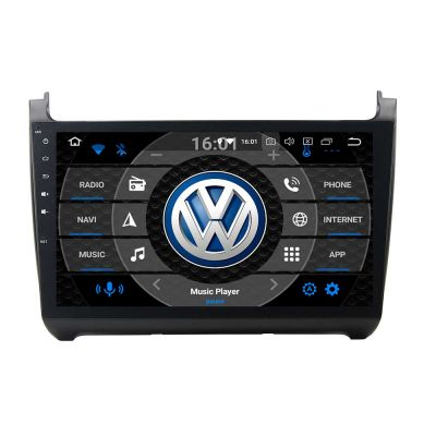 Belsee Best Aftermarket VW Volkswagen Polo 2012-2016 Android 10 Auto Head Unit Stereo Upgrade Car Radio Replacement 10.1 inch Touch IPS Screen In Dash GPS Navigation Audio System Wifi PX6 Ram 4GB Rom 64GB DSP Apple CarPlay