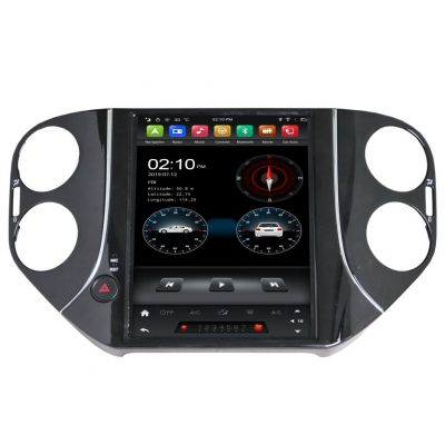 Belsee Best Aftermarket Android 9.0 Auto Head Unit Stereo Upgrade Tesla Style Vertical 9.7 inch Touch Screen Radio Replacement for Volkswagen VW Tiguan 2007-2016 Wireless Apple CarPlay Wifi PX6 Bluetooth DSP Multimedia Player GPS Navigation Sat Nav