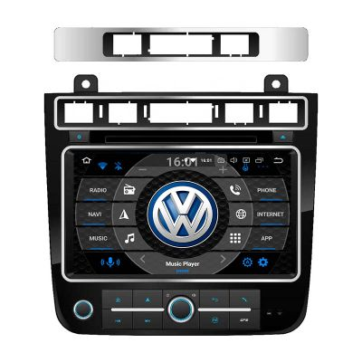 Belsee Aftermarket Auto Radio Stereo Upgrade Head Unit Android 10 Radio Navigation System Replacement Part for Volkswagen VW Touareg 2011-2017 Wireless Apple Car Player Android Auto Car DVD Multimedia Player PX6 8 inch Touch Screen GPS Sat Navi Bluetooth