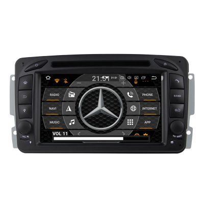 Belsee Best Aftermarket In Dash Car GPS Navigation Radio Upgrade Android 10 Q Auto Stereo CD DVD Player Receiver for Mercedes-Benz C-Class W203 CLK C209 W209 M/ML-Class W163 A-Class W168 Viano & Vito W639 G-Class W463 DSP Apple CarPlay Head Unit Screen