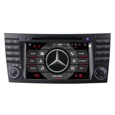 Belsee Best Aftermarket Mercedes-Benz E-Class W211 Radio Upgrade Bluetooth Autoradio Android 10 Auto Head Unit Stereo Upgrade GPS Navigation System Apple CarPlay Sat Nav 7 inch Touch Screen Wifi