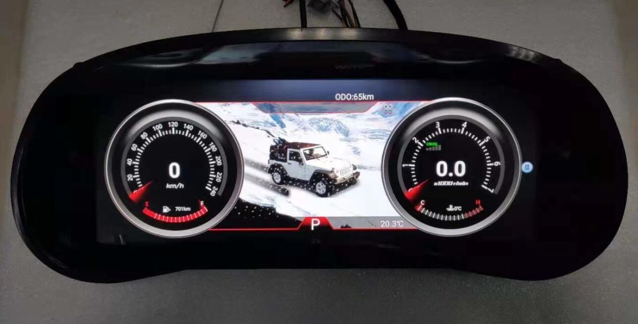 LCD dash display Jeep Wrangler 2010-2017