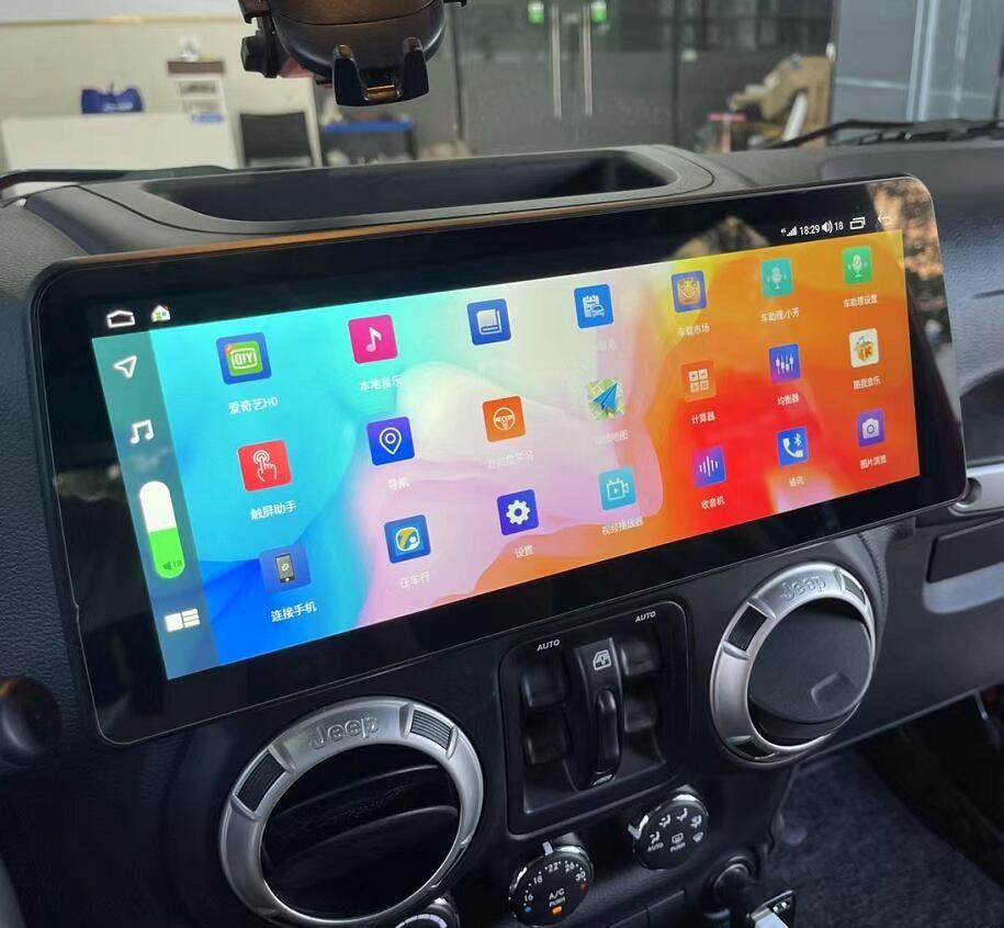 Jeep Wrangler 2011-2017 12.3 screen stereo upgrade