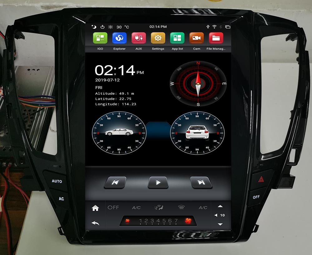 tesl ascreen android 9.0 mitsubishi pajero