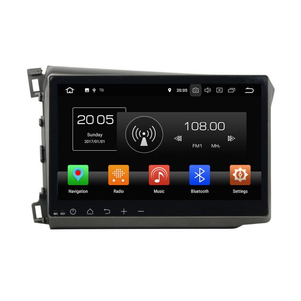 Belsee Best Android 8 0 Oreo Auto Head Unit For Honda Civic 2012 2013 10 1 Touch Dual IPS Screen Radio With GPS Navigation System Octa Core PX5 Car