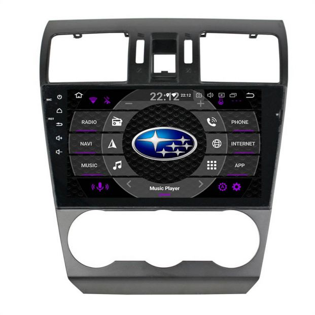 Belsee Best Aftermarket Android 9 0 Pie Auto In Dash GPS Navigation System  Head Unit for Subaru XV Crosstrek WRX STI Forester 2015 2016 2017 2018 2019