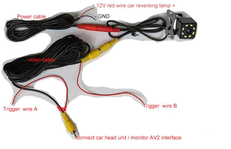 reverse camera installation diagram