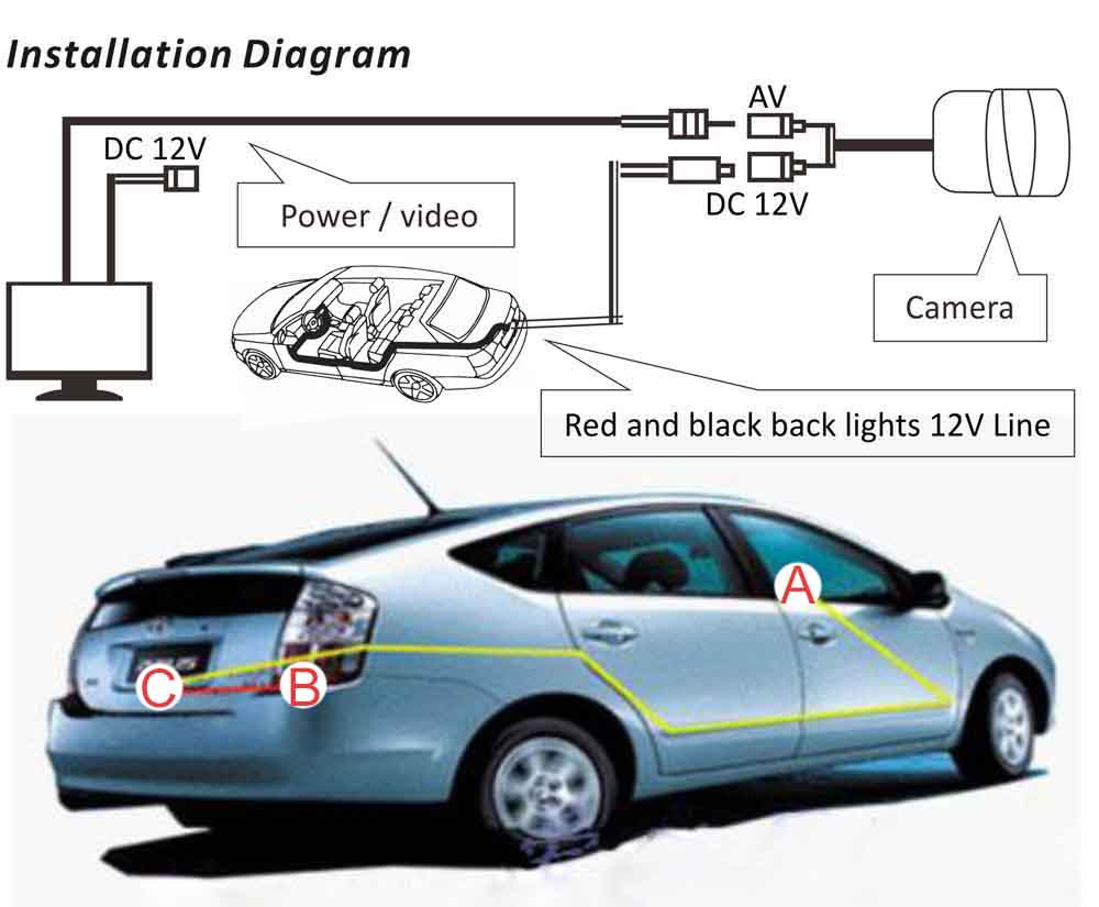 How To Connect Back Up Rear View Camera Car Radio Android Head 2011 Jetta Unit Wiring Diagram Reverse Installation