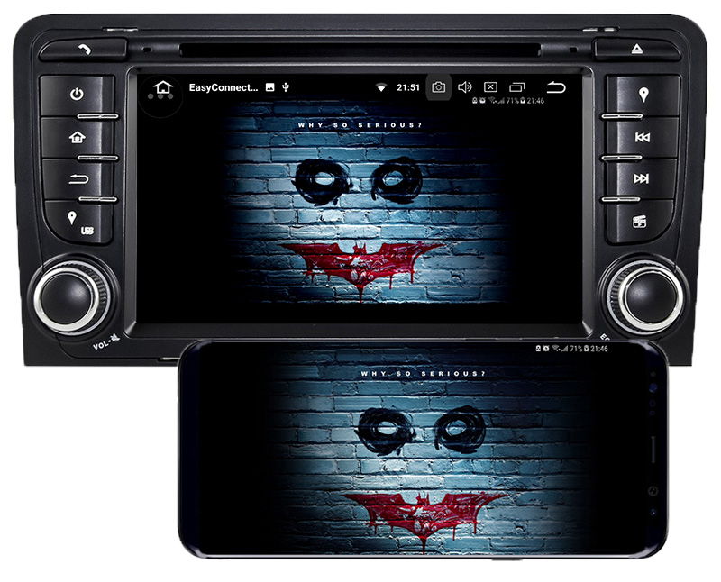 Audi A3 8P S3 RS3 2003-2012 android mirror link