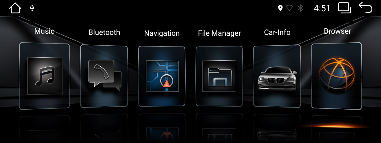 BMW EVO UI on android head unit