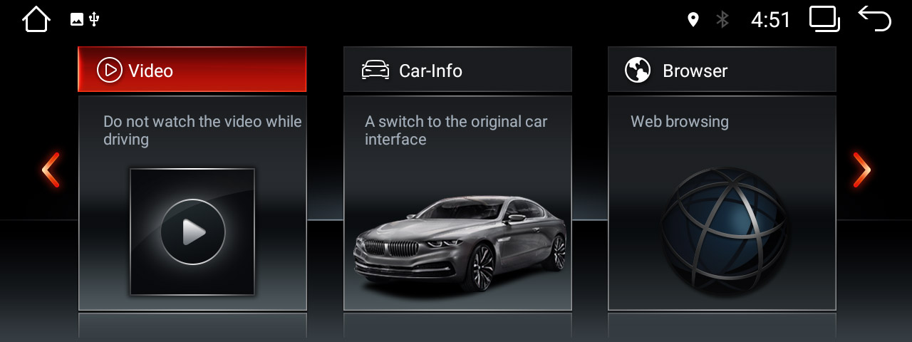 BMW ID6 UI on android stereo