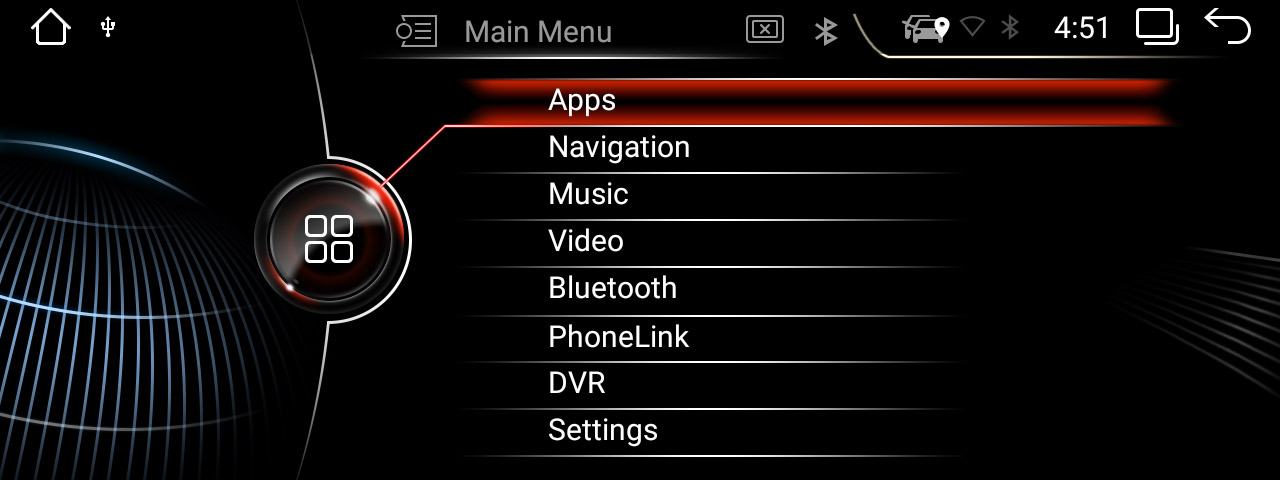BMW NBT UI on android radio