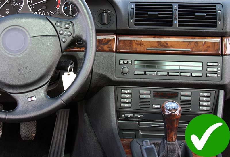 BMW E39 X5 M5 E53 E38 dash
