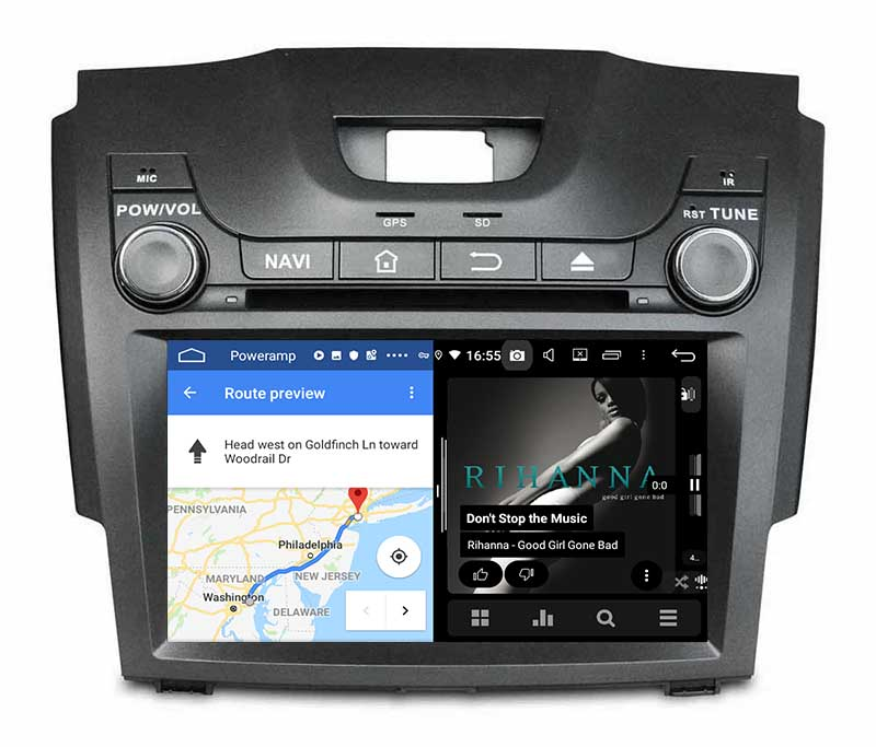 slpit screen on android Chevrolet TrailBlazer S-10 S10 Colorado Isuzu D-Max DMAX MU-X MUX 2012-2019