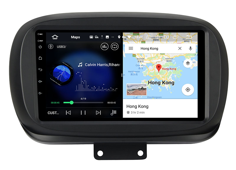 slpit screen on android FIAT 500X 2014-2020
