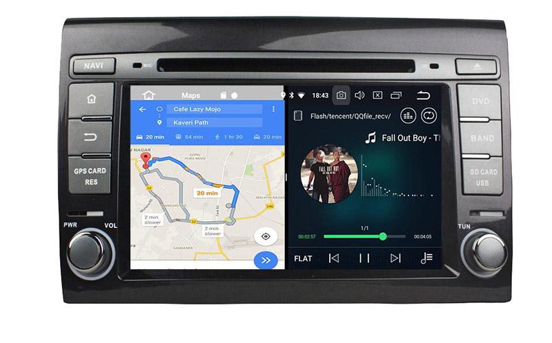 slpit screen on android Fiat bravo