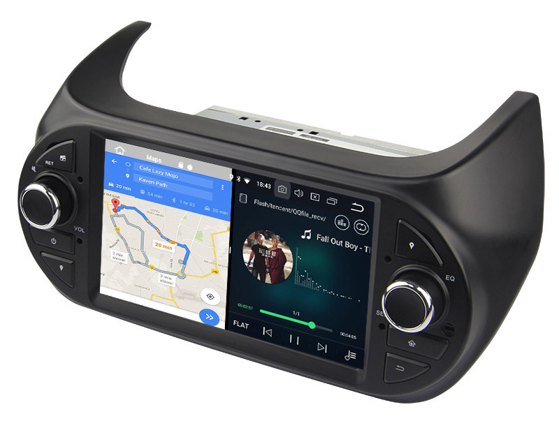 slpit screen on android Fiat Fiorino Citroen Nemo Peugeot Bipper