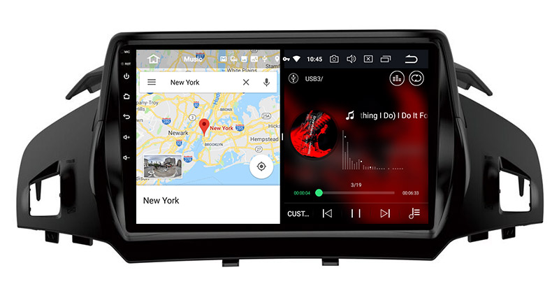 slpit screen on android Ford Kuga C-Max Escape 2012-2018