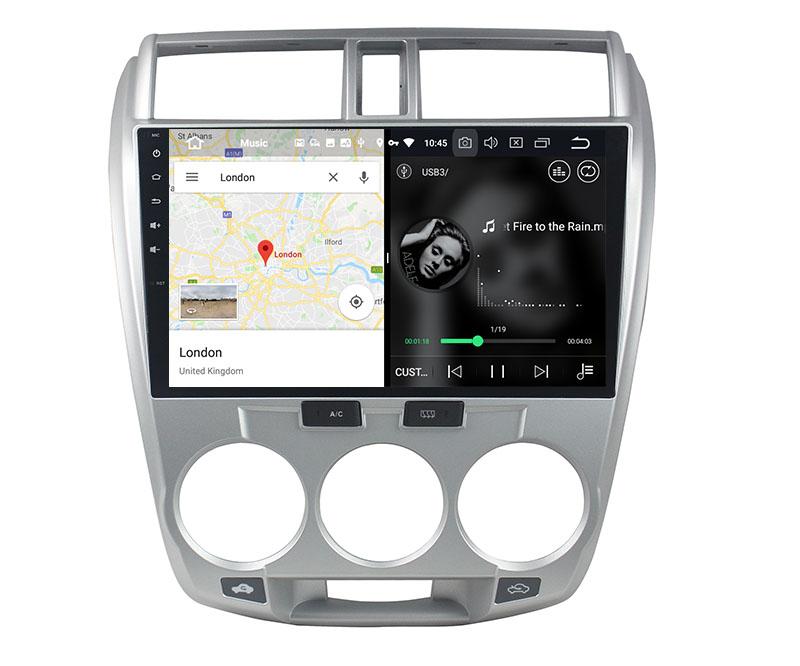 slpit screen on android Honda City 2008-2013