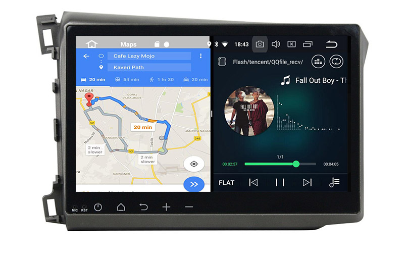 slpit screen on android Honda Civic