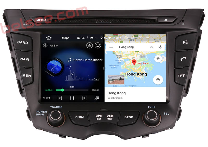 slpit screen on android 9.0 Hyundai Veloster 2011-2017