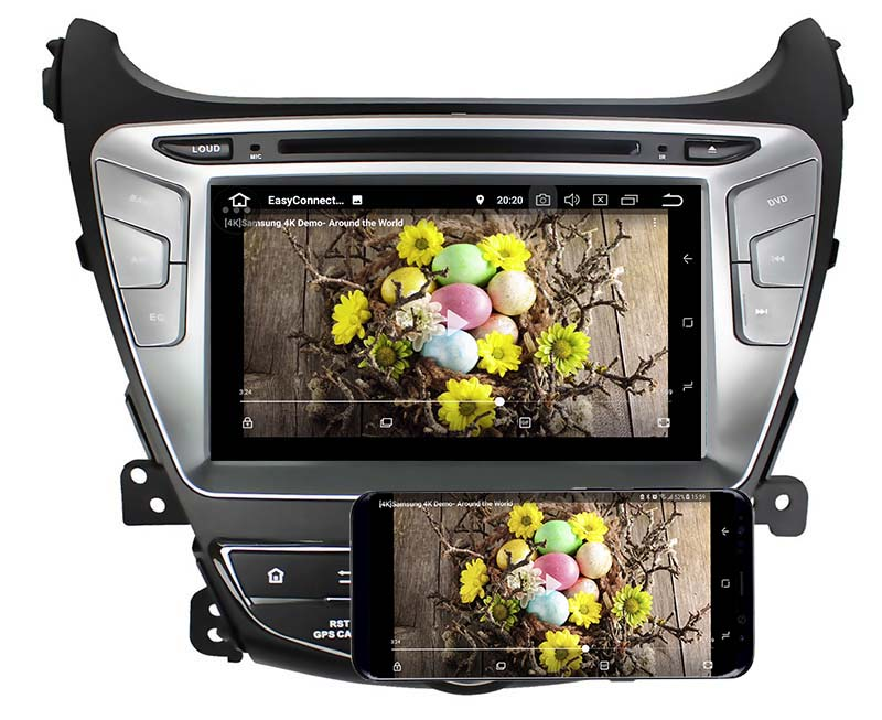 Hyundai Elantra 2014 2015android mirror link