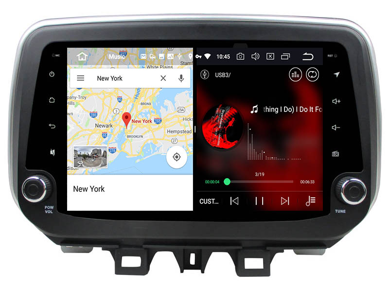 slpit screen on android Hyundai ix35 Tucson 2018 2019 autoradio