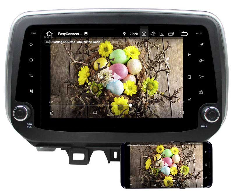 Hyundai ix35 Tucson 2018 2019 dvd player android mirror link