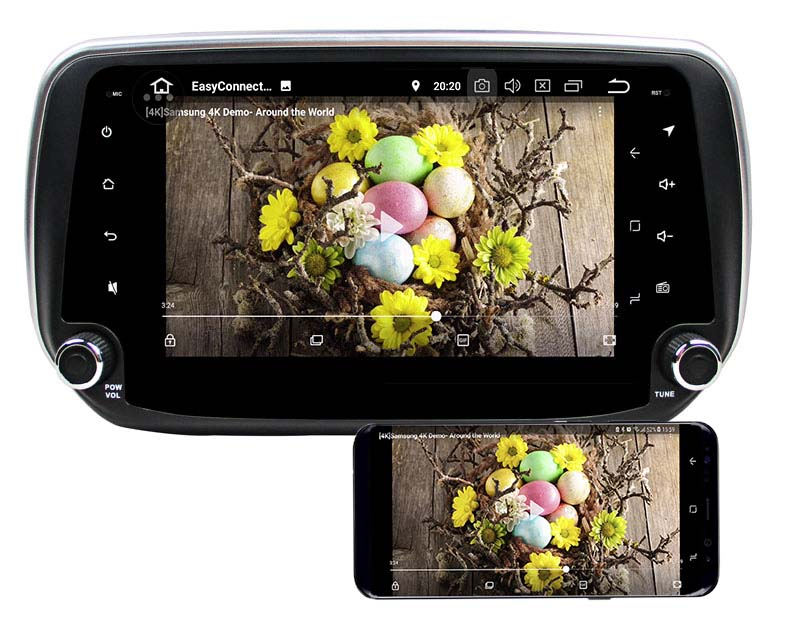 2019 2018 Hyundai Santa Fe ix45 dvd player android mirror link