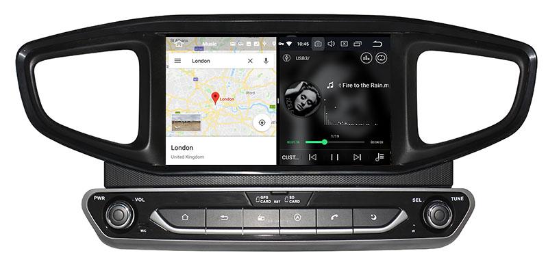slpit screen on android Hyundai Ioniq 2016-2019