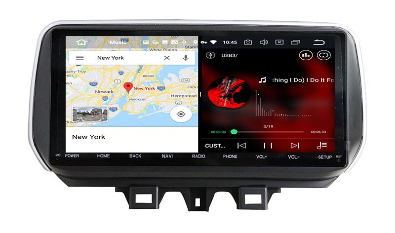 slpit screen on android 2018 2019 2020 2021 Hyundai ix35 Tucson