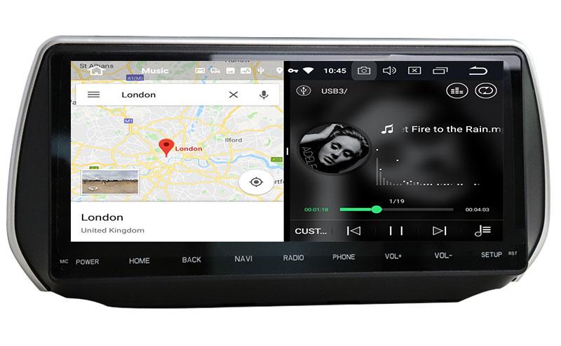 slpit screen on android 2018 2019 2020 Hyundai Santa Fe ix45