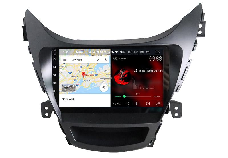 slpit screen on android Hyundai Elantra 2011-2013