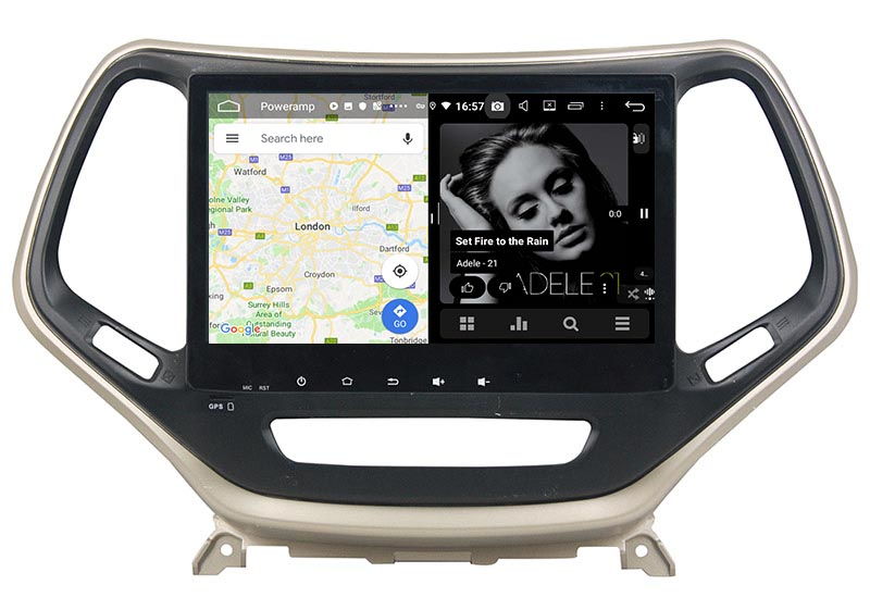 slpit screen on android Jeep Grand Cherokee / Cherokee 2014 2015 2016 2017